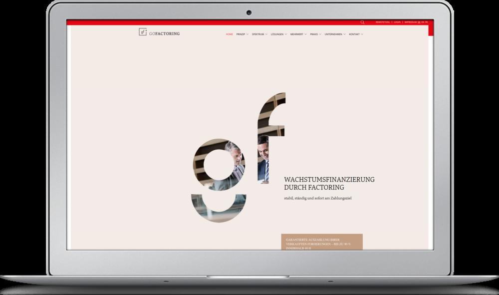 Homepage GOFACTORING Zürich
