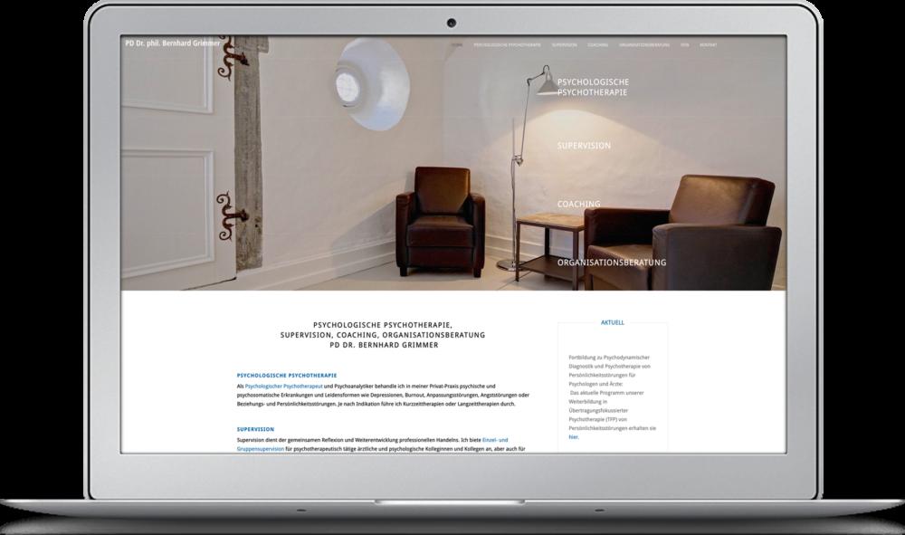 Homepage Dr. Grimmer – Webdesign KOCHUNDSIMON