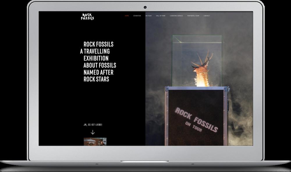 Webdesign Rock Fossils Kopenhagen