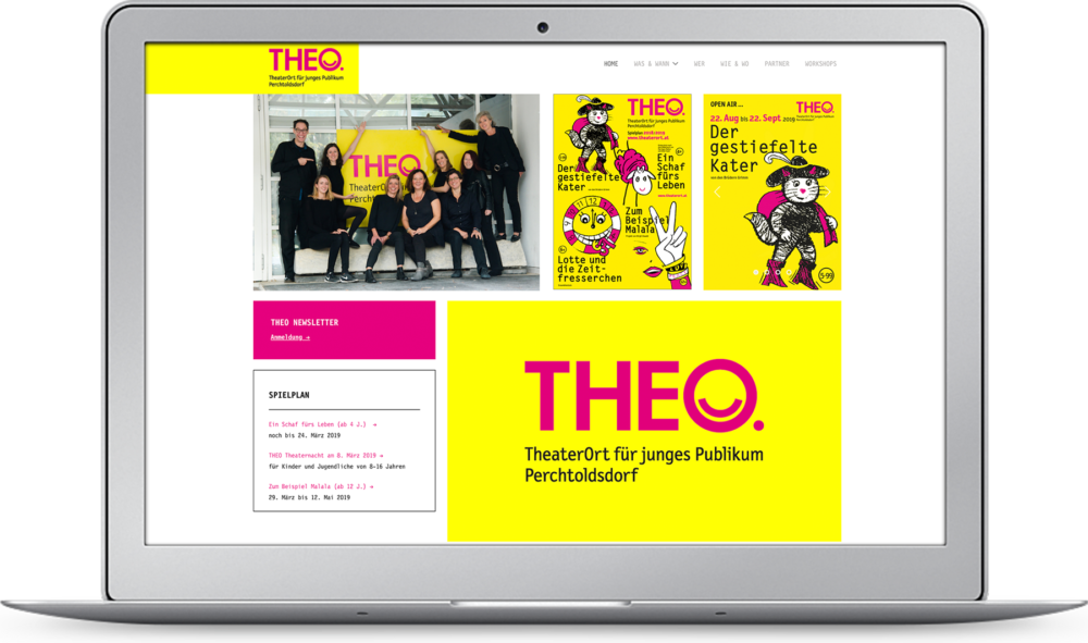 Webdesign THEO – Theaterort Wien