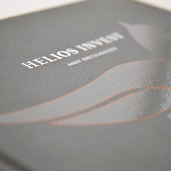 Buchgestaltung Helios Invest – KOCHUNDSIMON