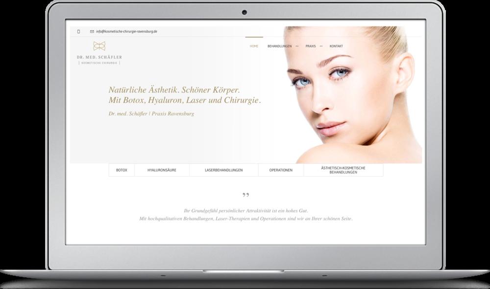 Website Kosmetische Chirurgie Ravensburg