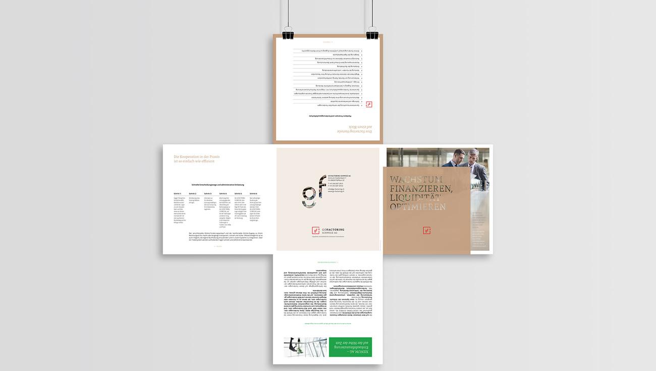 Editorial Design GOFACTORING Zürich