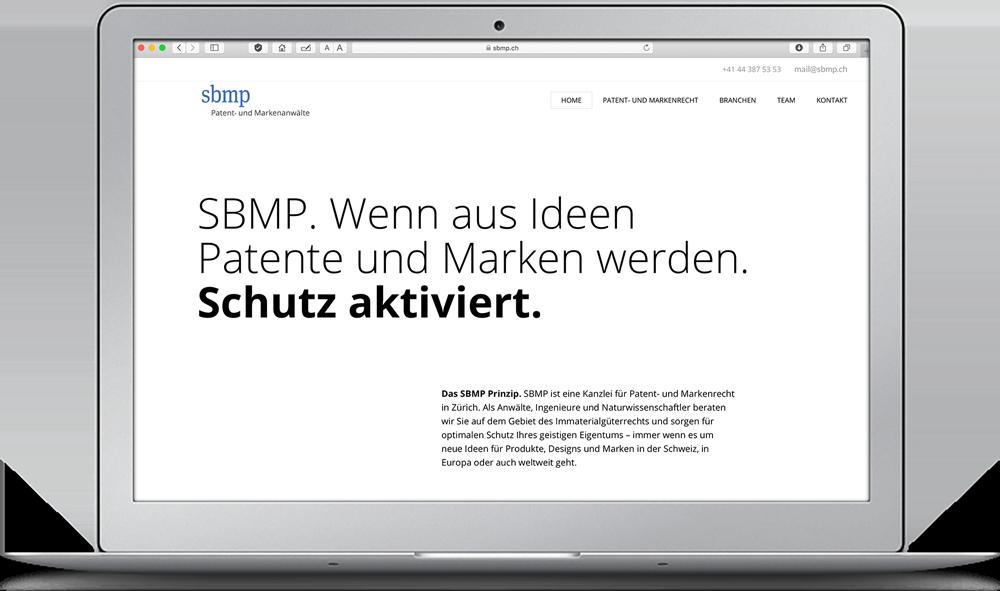 Webdesign SBMP Kanzlei Zürich